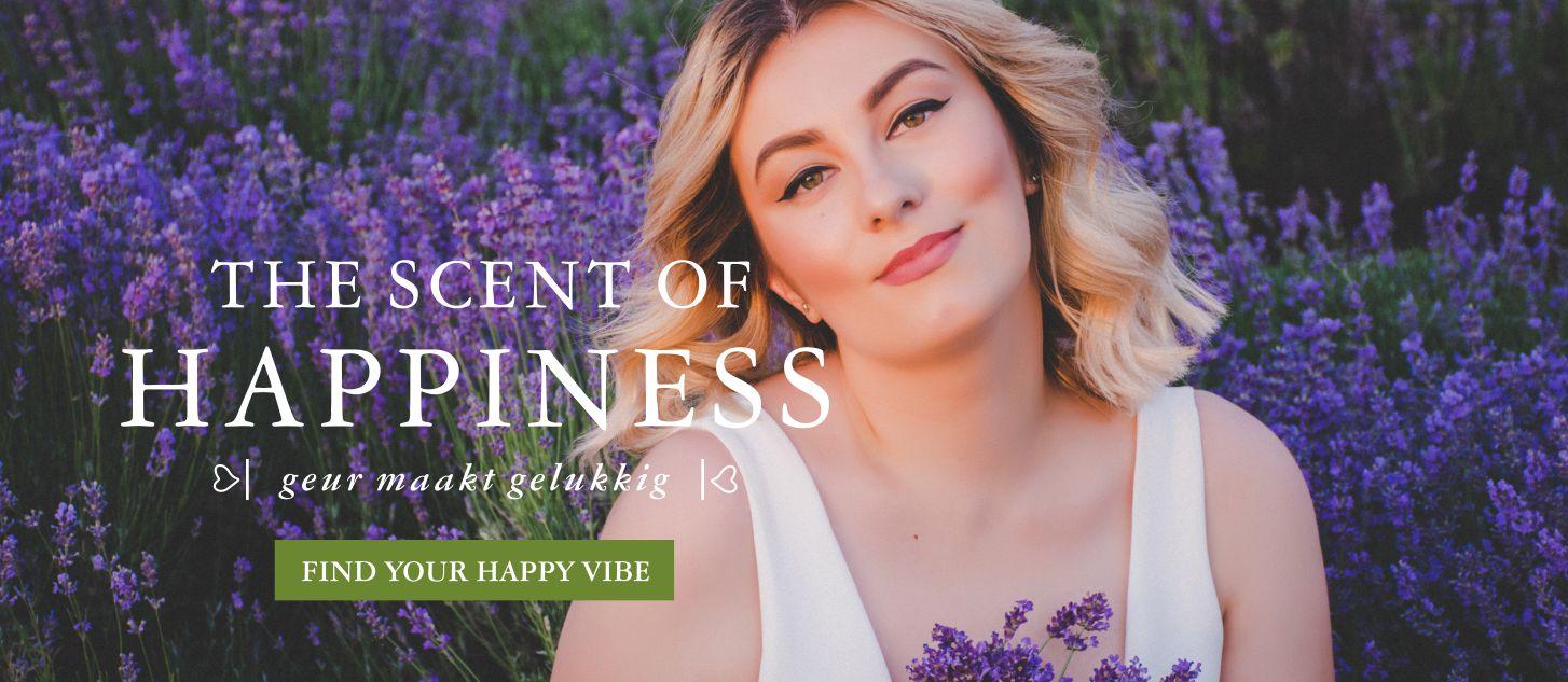 GOOD VIBE FACTORY banner geur maakt gelukkig