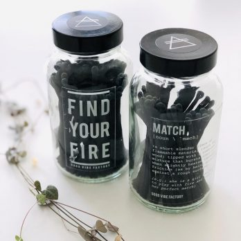 Alchemists Candle Matches – FIND YOUR FIRE (Clear Glass)